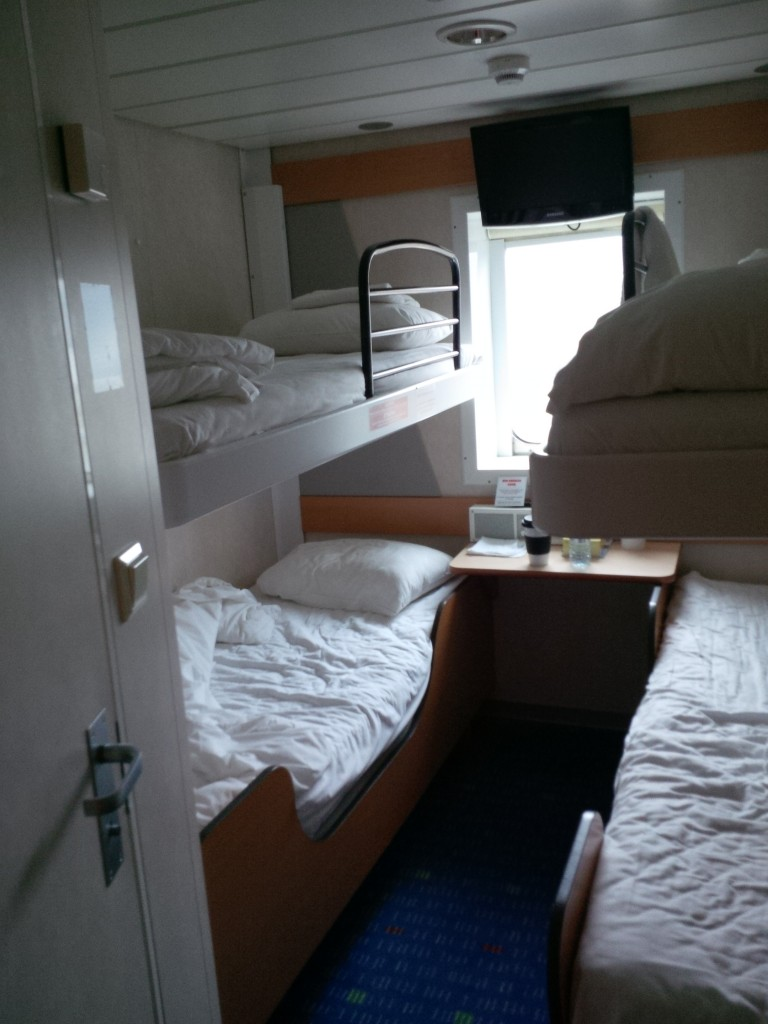 Our bunk on the Marine Atlantic ferry.