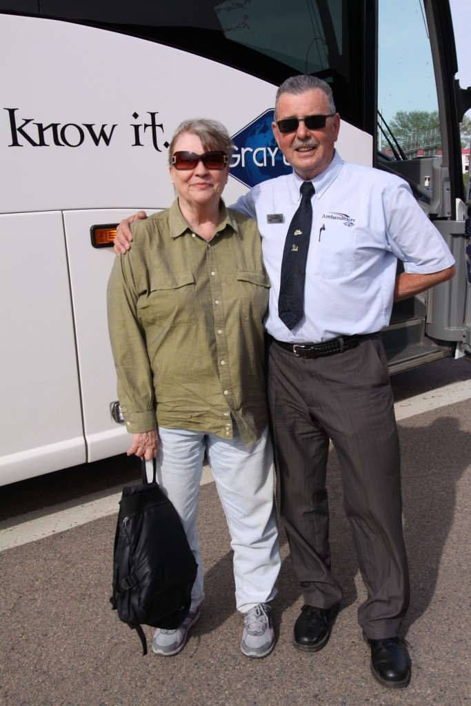 Mom with our bus driver, Dave.